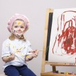 Portrait of a girl artist at the easel — Stock Photo #40723137