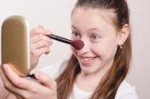 Polveri di dodici anni ragazza beccuccio — Foto Stock