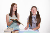 Tutor and the student solve problem — Stock Photo
