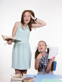 Pupil did not fulfill the task and hurt teachers — Stock Photo