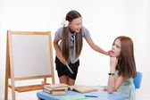 Disciple wakes sleeping teacher — Stock Photo