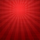 Abstract grunge red background with rays — Stock Vector