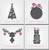 Set of christmas icons . Vector illustration. — Stock Vector