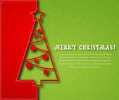 Noel ağacı Tekstil zemin üzerine — Stok Vektör