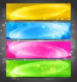 Vector abstracte kleur banner — Stockvector