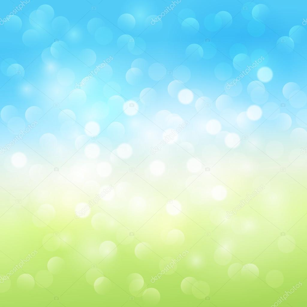 Abstract Light Green And Blue Background
