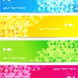 Set of abstract banner with square shapes - 图库矢量图片