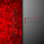 Abstract red mosaic background — Stock Vector