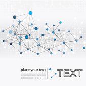 Molekül ve iletişim arka plan — Stok Vektör