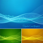 Shiny color waves background — Stock Vector