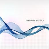 Abstraktní pozadí s modrými kouře vlnu. — Stock vektor