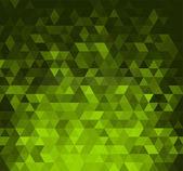 Abstrato com triângulos verdes brilhantes — Vetor de Stock
