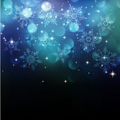 Christmas snowflkes background — Stock Vector