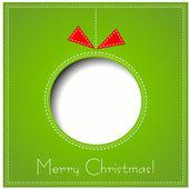 Vector Merry Christmas Paper greeting card — Stock vektor