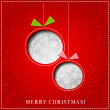 Vector Merry Christmas Paper greeting card — Stock Vector #35664729