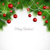 Vector Merry Christmas greeting card — Stock Vector