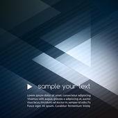 Elegant Geometric Blue Background — Stock Vector