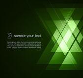 Elegant Geometric Green Background — Stock Vector