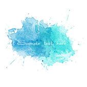Blue Watercolor splatters. Vector — Stock Vector