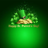 St.Patrick's Day background. Vector illustration — Stock Vector