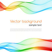 Abstract colorful background. Spectrum wave. — Stock Vector