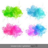 Watercolor splatters. Vector — Stock Vector