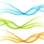 Set of vector  color curve lines design element. — Stock Vector #46764921