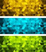 Vector banner géométrique abstrait avec triangle — Vecteur