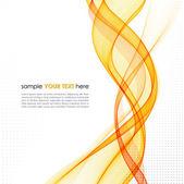 Abstract orange line vector background — Stock Vector