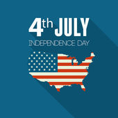 American Independence Day. Flat design — Stock Vector