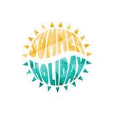 Vector coloreada texto de vacaciones de verano — Vector de stock