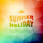 Vector abstract background with summer text — Stock Vector