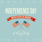 American Independence Day  Patriotic background — Stock Vector
