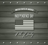 American Independence Day. Flat design — Vector de stock