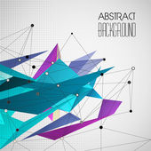 Vector abstract geometric background with triangle — Vector de stock
