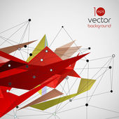 Vector abstract geometric background with triangle — Wektor stockowy