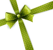 Vector isolated green polka dots bow — Vector de stock