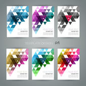 Vector abstract geometric banner with triangle — Stock Vector