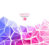 Vector abstract geometric background with triangle — Stock Vector