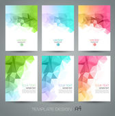 Vector abstract geometric background with triangle — Stockvektor