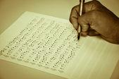 Escrevendo de musica — Foto Stock