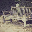 Wood bench in park, Paris, France — Stock Photo