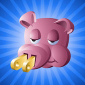 Power Piggy: Environmental Apathy Award — Stock Vector