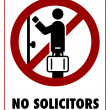 No Solicitors - Stock Vector