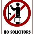 Stock Vector: No Solicitors