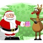 Santa & Reindeer — Stock Vector #35813093