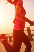 Woman running at the morning — Stock Photo
