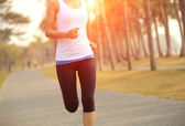 Woman running — Stock Photo