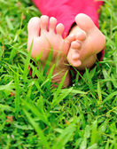 Relaxing barefeet — Stock Photo