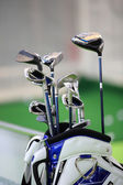 Bag with clubs — Stock Photo
